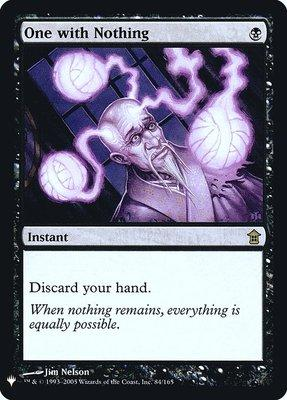 Mystery Booster: One with Nothing (Foil)