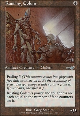 Nemesis Foil: Rusting Golem