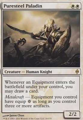 Puresteel Paladin NM MTG New Phyrexia Magic 2B3