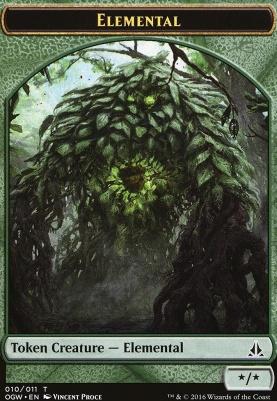 Oath of the Gatewatch: Elemental Token (Green)