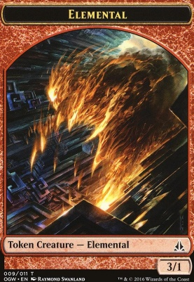Oath of the Gatewatch: Elemental Token (Red)