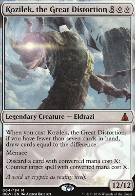 Oath of the Gatewatch Foil: Kozilek, the Great Distortion