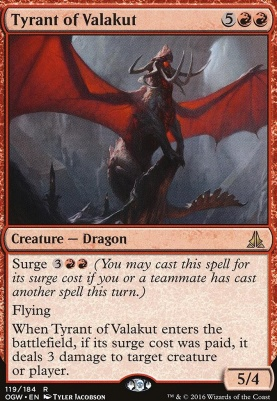 Oath of the Gatewatch Foil: Tyrant of Valakut