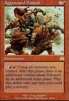 Onslaught Foil: Aggravated Assault