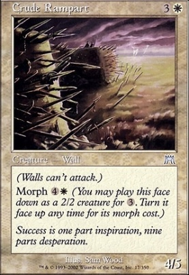 Onslaught Foil: Crude Rampart