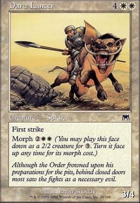 Onslaught Foil: Daru Lancer