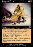 Onslaught Foil: Dirge of Dread