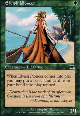 Onslaught Foil: Elvish Pioneer