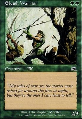 Onslaught Foil: Elvish Warrior