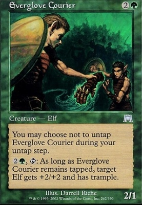Onslaught Foil: Everglove Courier