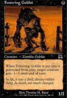 Onslaught Foil: Festering Goblin