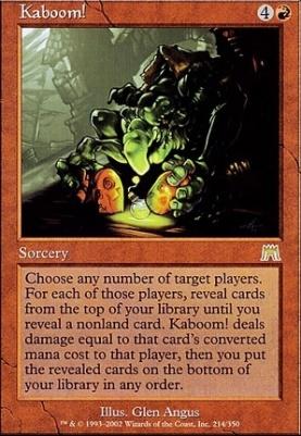 Onslaught Foil: Kaboom!