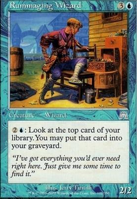 Onslaught Foil: Rummaging Wizard