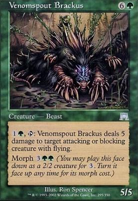 Onslaught Foil: Venomspout Brackus