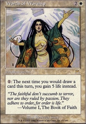 Onslaught Foil: Words of Worship