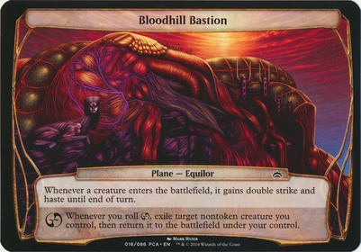 Planechase Anthology: Bloodhill Bastion (Plane Oversized)