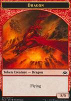 Planechase Anthology: Dragon Token - Saproling Token