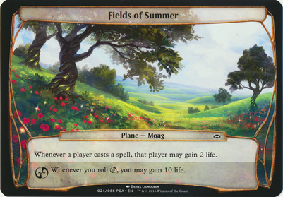 Planechase Anthology: Fields of Summer (Plane Oversized)