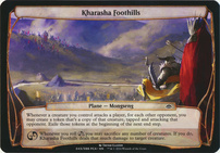 Planechase Anthology: Kharasha Foothills (Plane Oversized)