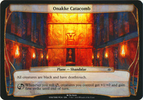 Planechase Anthology: Onakke Catacomb (Plane Oversized)