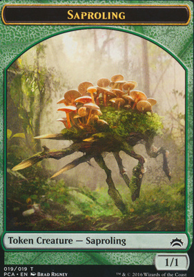 Planechase Anthology: Beast Token - Saproling Token