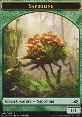 Planechase Anthology: Dragon Token - Saproling Token