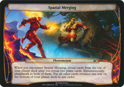 Planechase Anthology: Spatial Merging (Phenomenon Oversized)