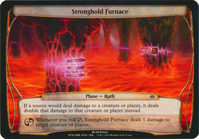 Planechase Anthology: Stronghold Furnace (Plane Oversized)