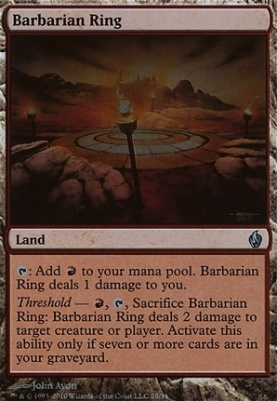 Premium Deck Series: Fire & Lightning: Barbarian Ring