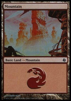 Premium Deck Series: Fire & Lightning: Mountain (31 A)