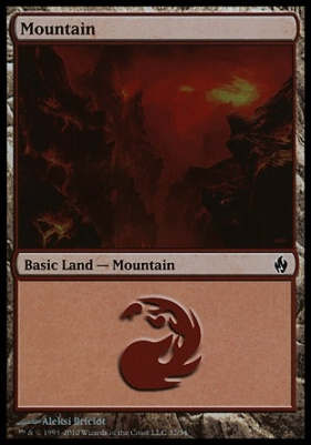Premium Deck Series: Fire & Lightning: Mountain (32 B)