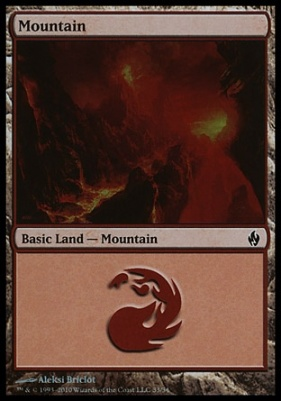 Premium Deck Series: Fire & Lightning: Mountain (33 C)