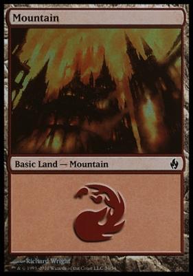 Premium Deck Series: Fire & Lightning: Mountain (34 D)