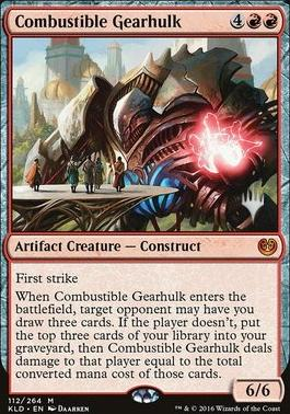 Promo Pack Foil: Combustible Gearhulk (Promo Pack)