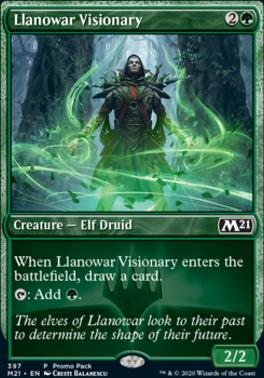 MTG Card open house elf druid LLanowar Elves promo foil Dominaria
