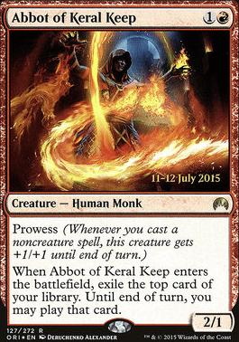 Promotional: Abbot of Keral Keep (Prerelease Foil)