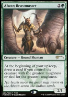 Promotional: Abzan Beastmaster (FNM Foil)