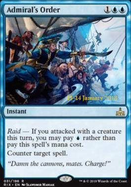 Promotional: Admiral's Order (Prerelease Foil)