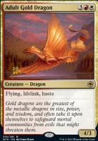 Promotional: Adult Gold Dragon (Prerelease Foil)