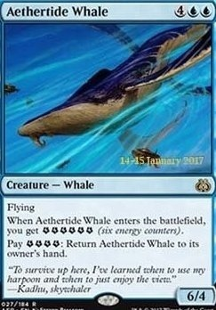 Promotional: Aethertide Whale (Prerelease Foil)