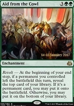 Promotional: Aid from the Cowl (Prerelease Foil)
