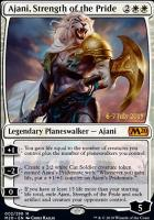 Promotional: Ajani, Strength of the Pride (Prerelease Foil)