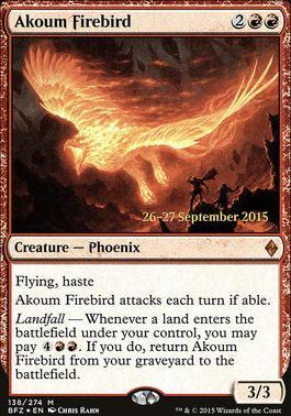 Promotional: Akoum Firebird (Prerelease Foil)