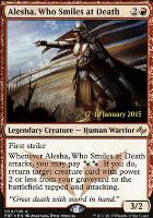 Promotional: Alesha, Who Smiles at Death (Prerelease Foil)