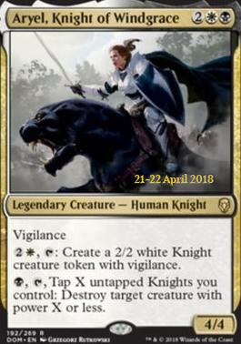 Promotional: Aryel, Knight of Windgrace (Prerelease Foil)