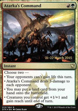 Promotional: Atarka's Command (Prerelease Foil)