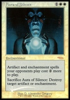 Promotional: Aura of Silence (FNM Foil)