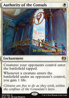Promotional: Authority of the Consuls (Prerelease Foil)