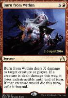 Promotional: Burn from Within (Prerelease Foil)