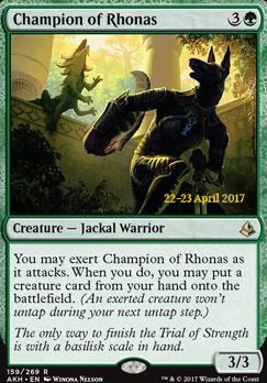 Promotional: Champion of Rhonas (Prerelease Foil)